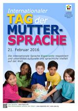 Internacia Tago de la Gepatra Lingvo, 21-a de februaro 2016 - (germana | de | Deutsch) klaku por vidi la grandan (preseblan) afiŝversion (en nova fenestro)