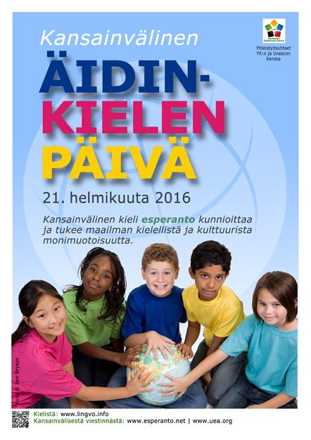 Internacia Tago de la Gepatra Lingvo, 21-a de februaro 2016 - (finna | fi | Suomi) klaku por vidi la grandan (preseblan) afiŝversion (en nova fenestro)