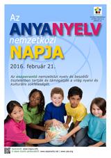 Internacia Tago de la Gepatra Lingvo, 21-a de februaro 2016 - (hungara | hu | Magyar) klaku por vidi la grandan (preseblan) afiŝversion (en nova fenestro)