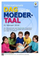 Internacia Tago de la Gepatra Lingvo, 21-a de februaro 2016 - (nederlanda | nl | Nederlands) klaku por vidi la grandan (preseblan) afiŝversion (en nova fenestro)