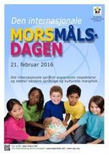 Internacia Tago de la Gepatra Lingvo, 21-a de februaro 2016 - (norvega | no | Bokmål (nb)) klaku por vidi la grandan (preseblan) afiŝversion (en nova fenestro)