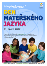 Internacia Tago de la Gepatra Lingvo, 21-a de februaro 2017 - (ĉeĥa | cs | Čeština) - klaku por vidi la grandan (preseblan) afiŝversion (en nova fenestro)