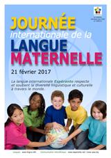 Internacia Tago de la Gepatra Lingvo, 21-a de februaro 2017 - (franca | fr | Français) klaku por vidi la grandan (preseblan) afiŝversion (en nova fenestro)