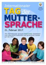 Internacia Tago de la Gepatra Lingvo, 21-a de februaro 2017 - (germana | de | Deutsch) klaku por vidi la grandan (preseblan) afiŝversion (en nova fenestro)