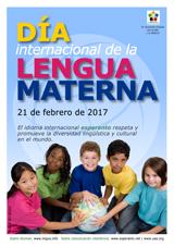 Internacia Tago de la Gepatra Lingvo, 21-a de februaro 2017 - (hispana | es | Español) klaku por vidi la grandan (preseblan) afiŝversion (en nova fenestro)