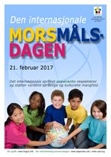 Internacia Tago de la Gepatra Lingvo, 21-a de februaro 2017 - (norvega | no | Bokmål (nb)) klaku por vidi la grandan (preseblan) afiŝversion (en nova fenestro)