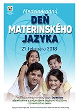Internacia Tago de la Gepatra Lingvo, 21-a de februaro 2018 - (slovaka | sk | Slovenčina) klaku por vidi la grandan (preseblan) afiŝversion (en nova fenestro)
