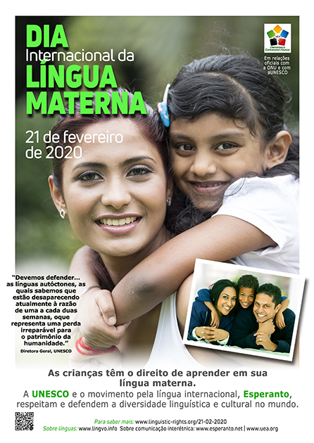 21 de fevereiro de 2020 - Dia Internacional da Língua Materna