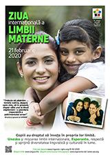 21 februarie 2020 Ziua internațională a limbii materne (rumana | ro | Română) klaku por vidi la grandan (preseblan) afiŝversion (en nova fenestro)