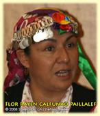 Flor Rayen Calfunao Paillalef, Mapuĉino, Ĉilio. Vivkondiĉoj de la Mapuĉa popolo. Simpozio pri Lingvaj Rajtoj, UN, Ĝenevo, 24-04-2008
