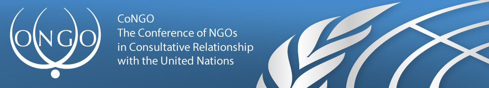The Conference of Non-Governmental Organizations in Consultative Relationship with the United Nations (CoNGO)