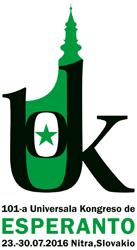 101-a Universala Kongreso de Esperanto, en Nitra (Nitro), Slovakio, 23 - 30 julio 2016.  Klaku por viziti la retejon de la 101-a UK!