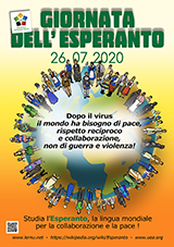 ESPERANTO-TAGO 2020 - itala - granda, presebla, afiŝa versio - klaku ĉi tien, por malfermi ĝin en nova fenestro