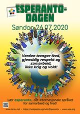 ESPERANTO-TAGO 2020 - norvega (Bokmål) - granda, presebla, afiŝa versio - klaku ĉi tien, por malfermi ĝin en nova fenestro