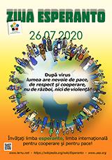 ESPERANTO-TAGO 2020 - rumana - granda, presebla, afiŝa versio - klaku ĉi tien, por malfermi ĝin en nova fenestro