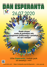 ESPERANTO-TAGO 2020 - serba (latinlitera) - granda, presebla, afiŝa versio - klaku ĉi tien, por malfermi ĝin en nova fenestro