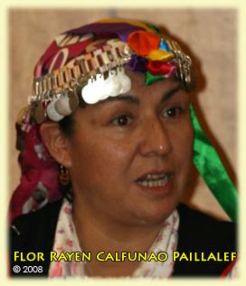 Flor Rayen Calfunao Paillalef, Mapuche, Chile. Symposium sur les Droits linguistiques, ONU, Genève, 24-04-2008